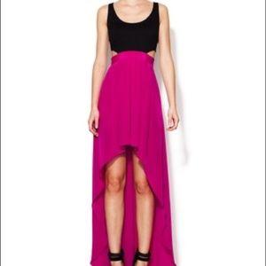 NWT Silk bottom hi low dress, size 4 or 10